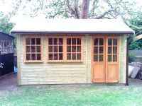 14 x 8 Orchard Room with 3 x 9 Pane Windows, and 6 Pane Double Doors.