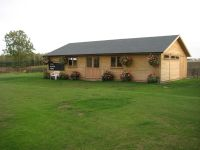 Large clubhouse for cricket club. 18m x 6m with partitions for changing rooms. Contact us for further details.