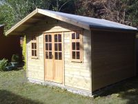 12 wide x 10 deep Summer Room with double doors and 2 windows.