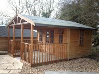 12 x 16 BBQ Room - based on a standard 12 x 8 Summer Room, with an additional 12 x 8 covered veranda.
