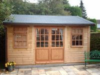 14 x 10 Orchard Room with standard doors and windows. Optional grey felt tiles have been added.