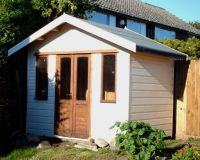The Craft Cabin is our least expensive garden building, base on a supply only basis. Please note that the customer has painted the building.