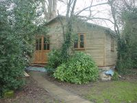 20 x 24 Large Studio - used as a snooker room, with double glazed garden office doors & windows.